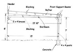 carport construction plans woodplans