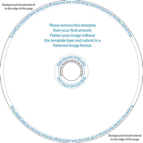 Templates Weprintdiscs Com Disc Cover Template