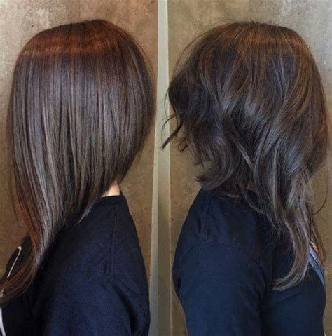 long bob angled hairstyles graduated layers best 25 long angled bob hairstyles ideas on pinterest