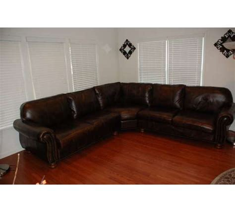 havertys leather sectional haverty s radford leather sectional couch and ottoman for
