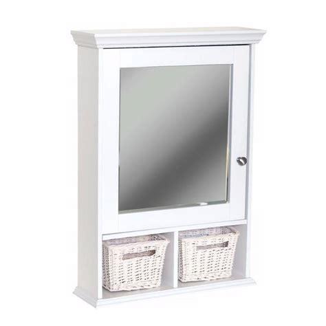 Zenith Decorative Medicine Cabinet with Wicker Baskets