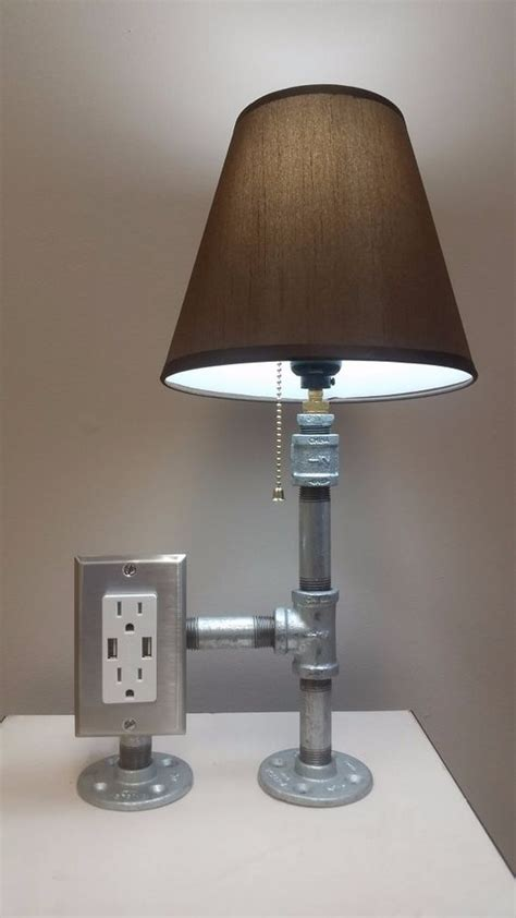Galvanized Pipe Light Fixtures A Galvanized Steel Pipe Desk L That Is Simple Yet Refined And Embodies Both The Essence And