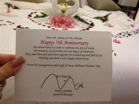 my anniversary decoration picture of swiss belhotel - Wedding Card Batam