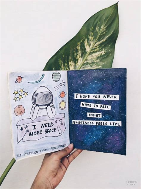 tumblr themes notebook art journal flip through space theme galaxy space and