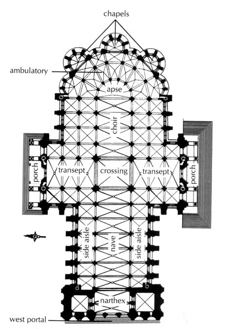 chartres cathedral floor plan plan chartres cathedral fig 16 10 pg 502 located in chartres 1194 this image