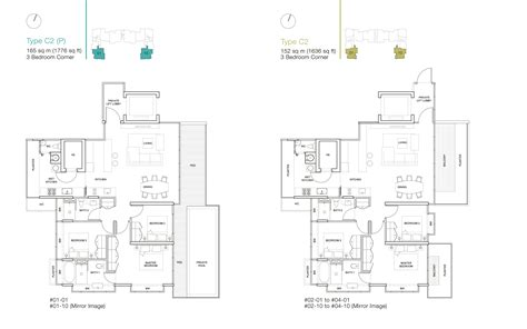 ola residences floor plan 3 bedroom ola residences
