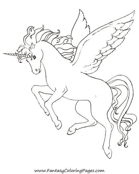 Coloring Pages Of Unicorns And Pegasus | unicorn pegasus coloring pages coloring home