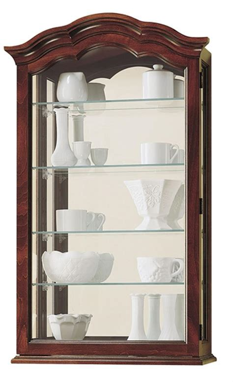 Curio Wall Cabinet   Vancouver Model   Windsor Cherry Finish