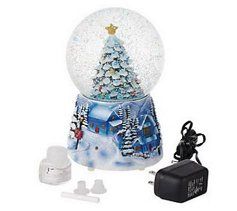 as is decorative battery operated auto snow globe qvc com