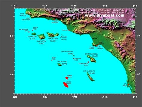 california map island channel islands california
