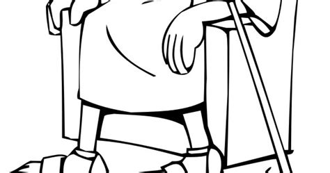 david becomes king coloring page