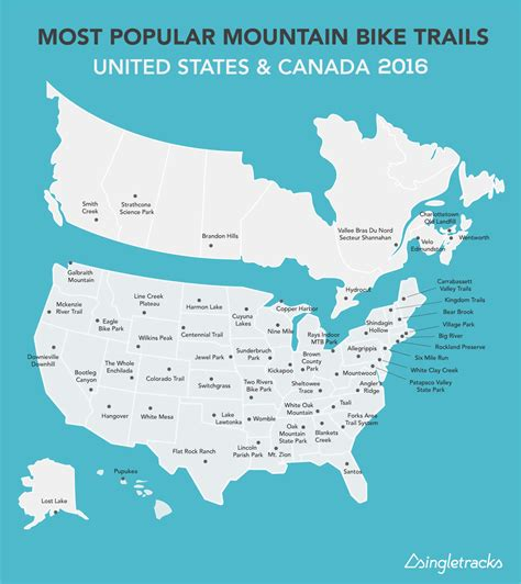 state with most owners 2016 most popular mountain bike trails in the us and canada