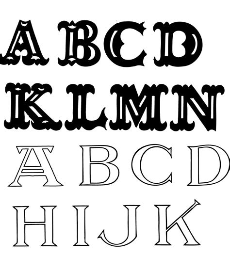 free letter fonts 7 best images of fonts and free printable letters block