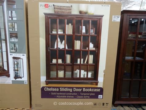 pulaski chelsea sliding door bookcase