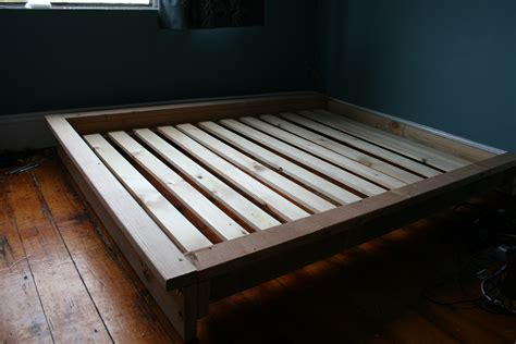 diy full bed frame img 8195