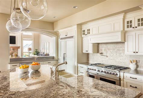 Kitchen Granite Counter Tops Home Improvement Light Granite Vs Granite Countertops Michigan Kitchen Remodeling