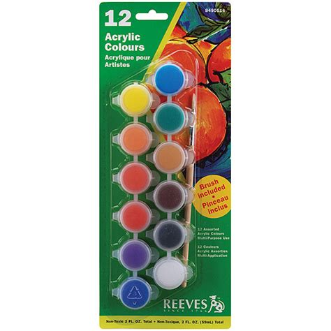 reeves acrylic paint set 12pk walmart