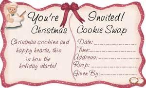 christmas cookie exchange invitations christmas cookie