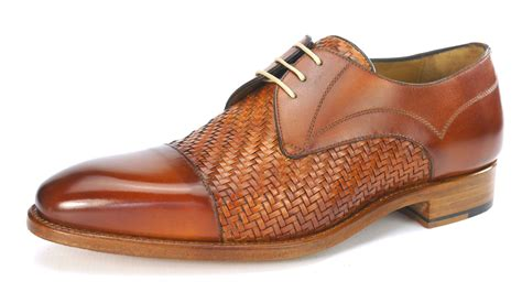 Handmade Mens Shoes Uk - carlos santos all leather welted handmade interlace