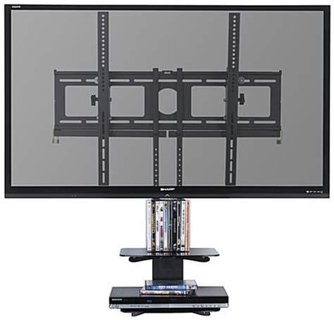 flat screen wall mounts with shelves flat screen wall mount display with hanging shelves black