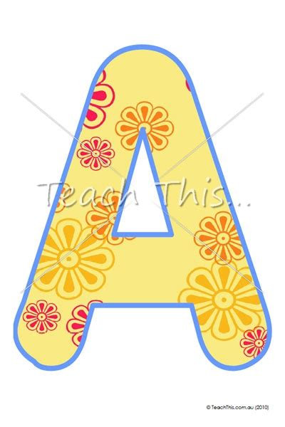printable letters for display letter templates yellow printable classroom displays