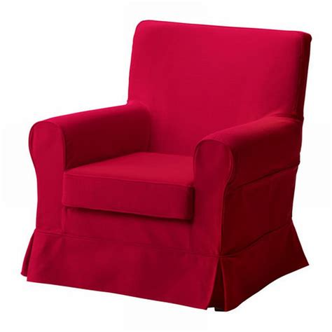 armchair red ikea ektorp jennylund armchair slipcover idemo red chair cover