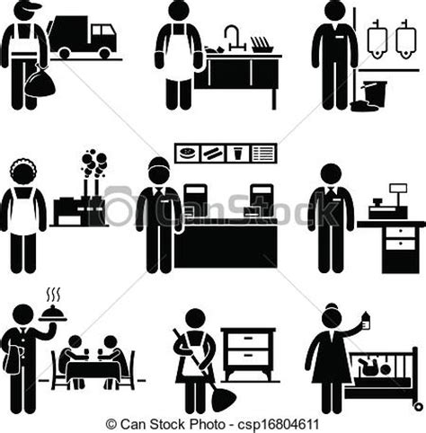 employment clip art free clipart vector clip art of low income jobs occupations careers a