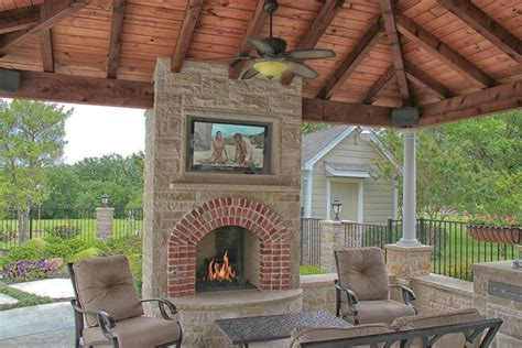 outdoor fireplace with tv pictures to pin on