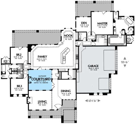 home plans with courtyards 2018 florida floor plan w interior court yard nearly 3 500 sq requires a corner lot by