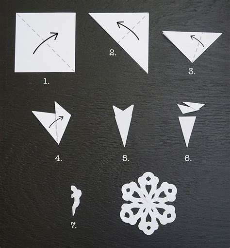 How To Make A Simple Snowflake Out Of Paper - 20 cool snowflake ideas for s grapevine