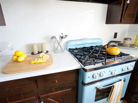 rustic kitchen love the blue retro appliances with the photo page hgtv