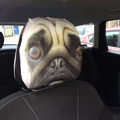pug car accessories pug up car seat rest covers 2 pack made in ideal gift ebay