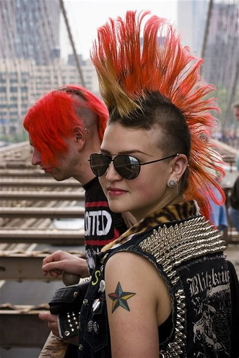 redhead women with spiked mohawk 66 best images about punk fashion on pinterest a punk