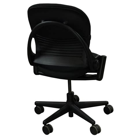 steelcase player chair armless steelcase leap armless used task chair black national