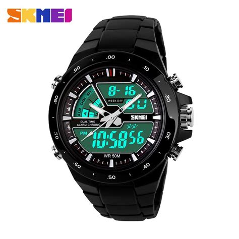 Jam Tangan Sport Skmei 1054 Jam Tangan Original Black Gold esiafone skmei jam tangan pria led sport ad1016