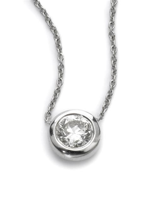 bezel jewelry roberto coin bezel pendant necklace in silver