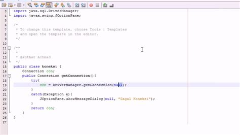 cara membuat uml java cara membuat koneksi java netbeans dengan mysql youtube