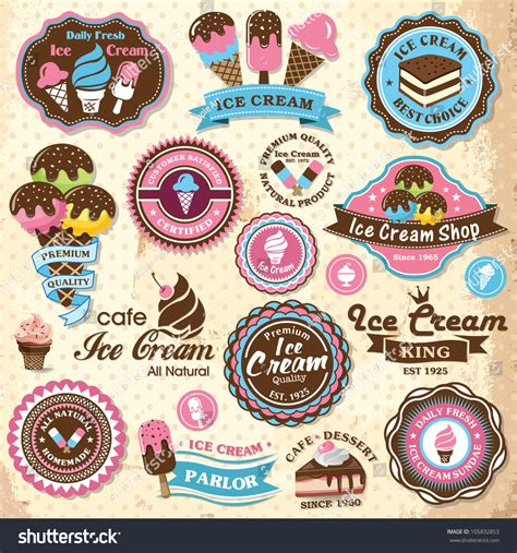 imagenes nieve vintage collection of vintage retro ice cream labels badges and