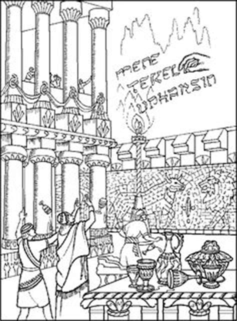 king belshazzar coloring pages king belshazzar and the writing on the wall junior