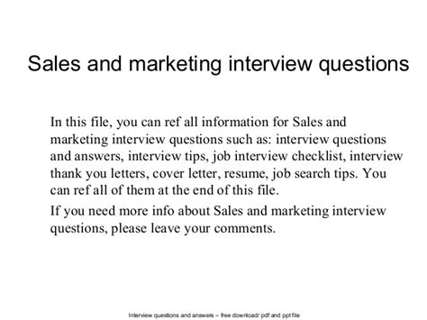 Mba In Sales And Marketing Subjects by Sales And Marketing Questions