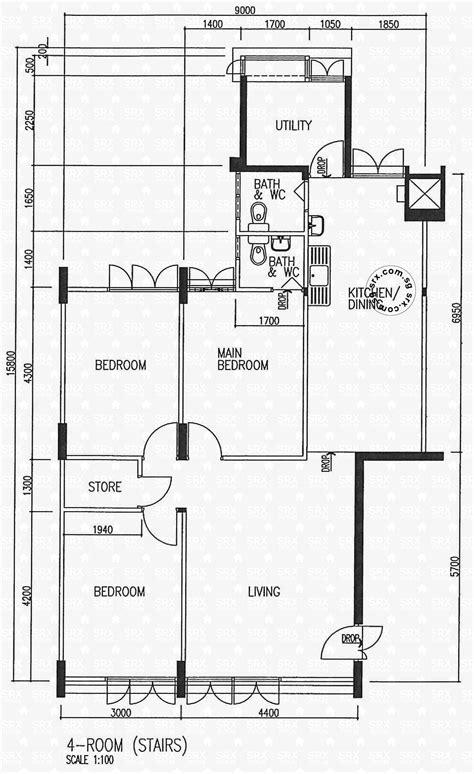 hdb floor plan choa chu kang street 51 hdb details srx property