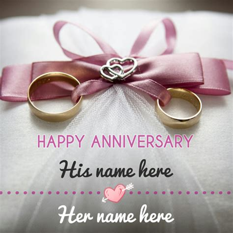 Wedding Anniversary Greeting With Name by Print Or Write Your Name On Greetings And Name Pics