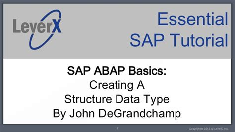 sap abap tutorial videos leverx essential sap tutorial abap creating a structure