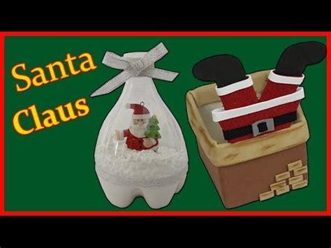 chimenea santa claus decoracion de navidad santa claus botellas de plastico