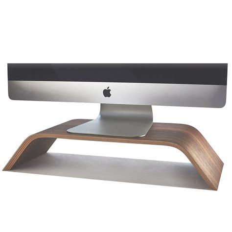 Wooden Monitor Stand Desktop Walnut Imac Riser Desk Monitor Stand