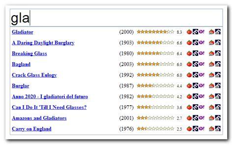 Search Ratings Ratings Instant Search