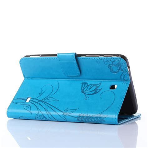 Leather Tablet 7inch smart leather cover stand for samsung galaxy tab 4 7