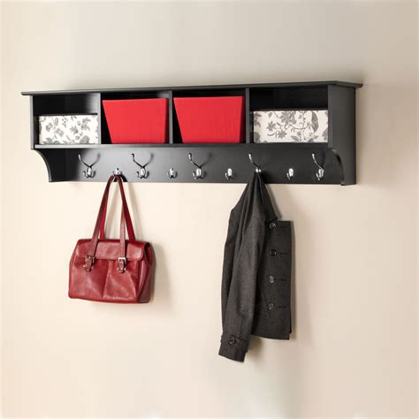 Hanging Entryway Shelf by Black 60 Inch Wide Hanging Entryway Shelf