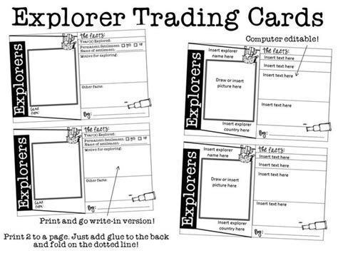 Vocabulary Trading Card Template by 1000 Ideas About Trading Cards On Artist