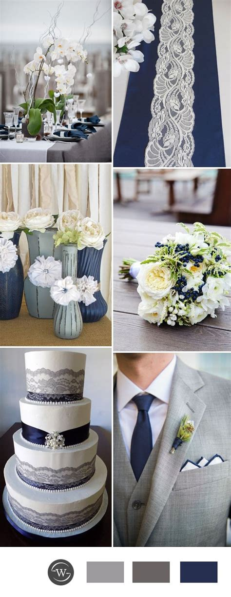 stunning navy blue wedding color combo ideas for 2017 trends wedding colors silver wedding